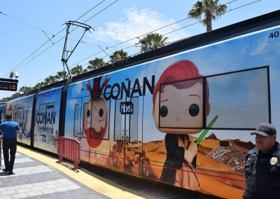 Conan-themed trolley - SDCC 2017