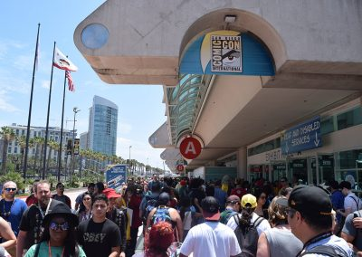 Crowds Outside the Convention Center