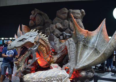 Giant dragon exhibit