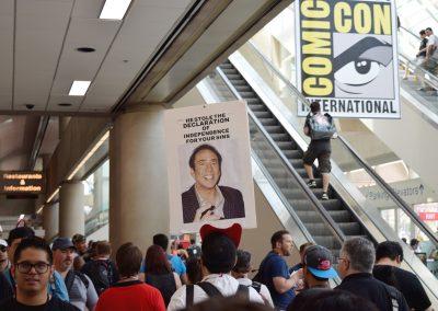 Nicholas Cage joke sign SDCC 2017