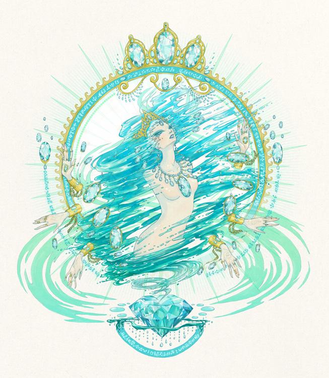 Aquamarine Genie