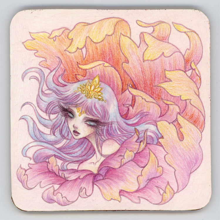 Bloom - Coaster Art by Harmony Gong
