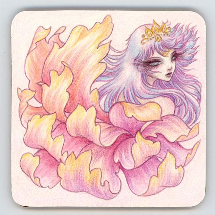 Blossom - Coaster Art by Harmony Gong