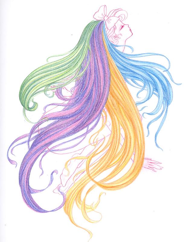Hair Study Sketch