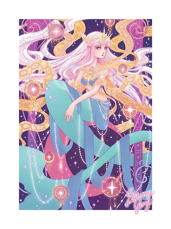 mermay princess art by harmony gong