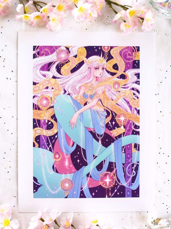 mermay princess art print by harmony gong
