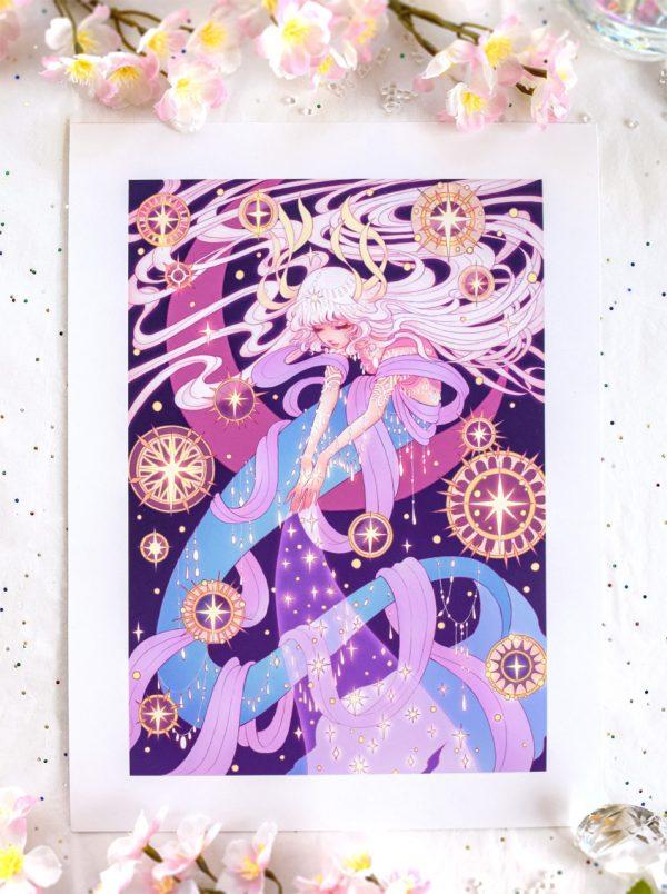 mermay stardust harmony gong art print