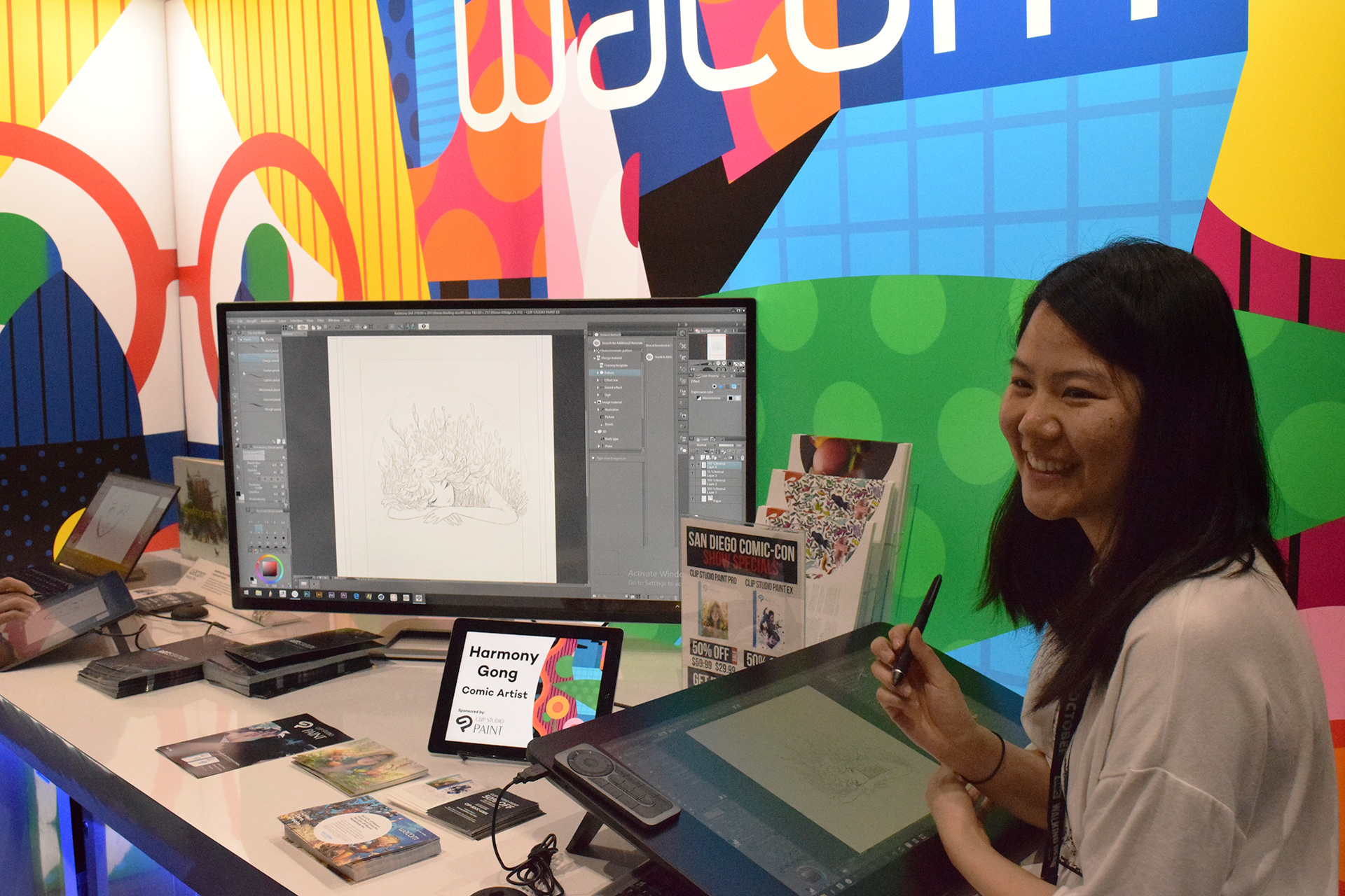 My live drawing demo at the Wacom/Clip Studio/Graphixly booth!