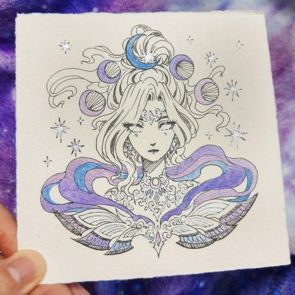 purple lunar goddess harmony gong