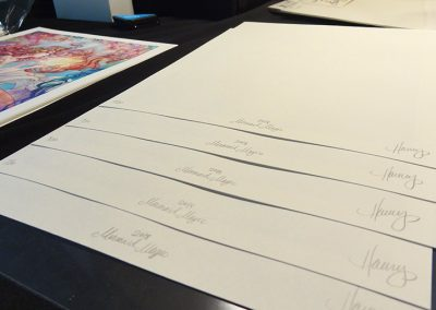 Signing and numbering prints